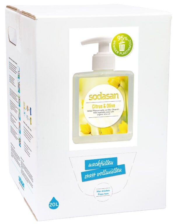 sodasan LIQUID Citrus & Olive 20L 5l