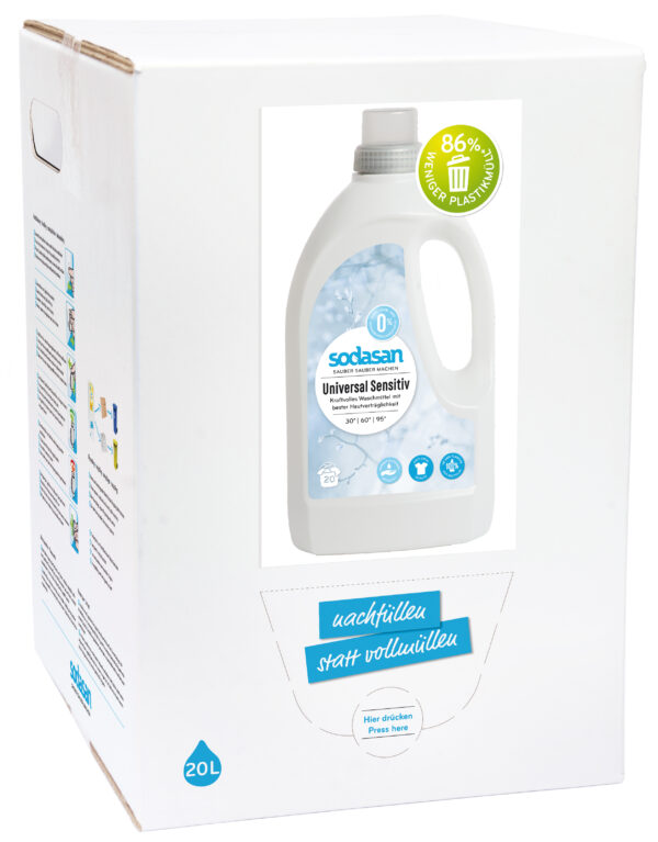 sodasan Universal Waschmittel sensitiv 20l