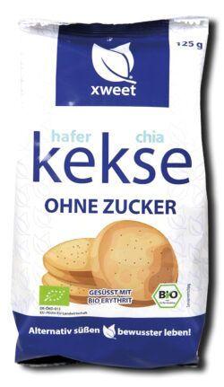 xweet hafer-chia-kekse bio 6x125g
