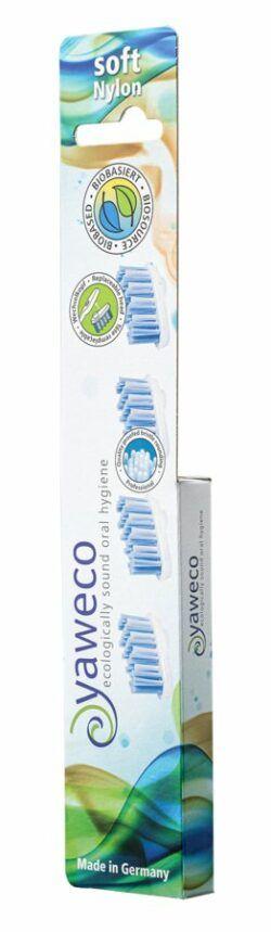 yaweco Nachfüllpackung 4 Ersatzköpfe soft für Wechselkopfzahnbürste I und II 6x4Stück