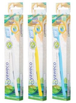 yaweco Wechselkopfzahnbürste II, soft, komplett aus biobasierten Materialien 6x1Stück
