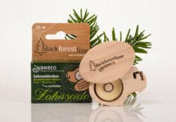 yaweco Zahnseidenbox aus heimischen Hölzern (Seide + Bienenwachs 25 m) 6x1St